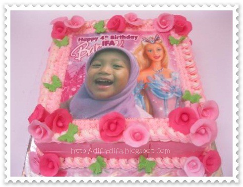 girly birthday cake by DiFa Cakes