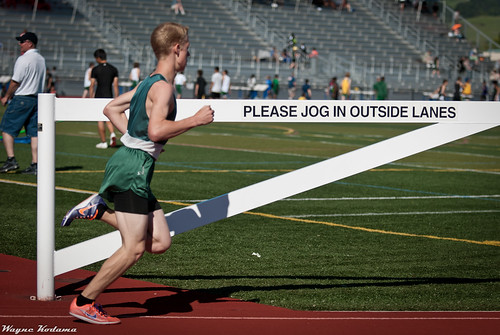 Please Jog in Outside Lanes