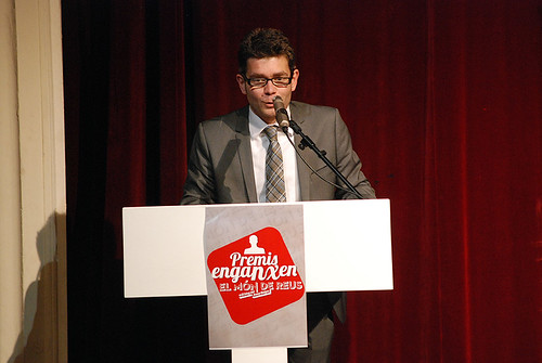 Marc Arza, durant la seva intervenció a la gala dels Enganxen