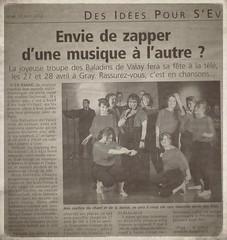 Dans la Presse de Gray le 19/04/2012