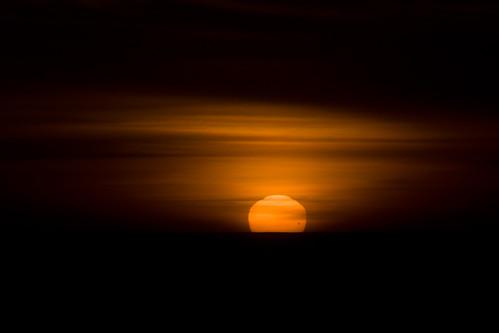 Venus Transit at Sunset