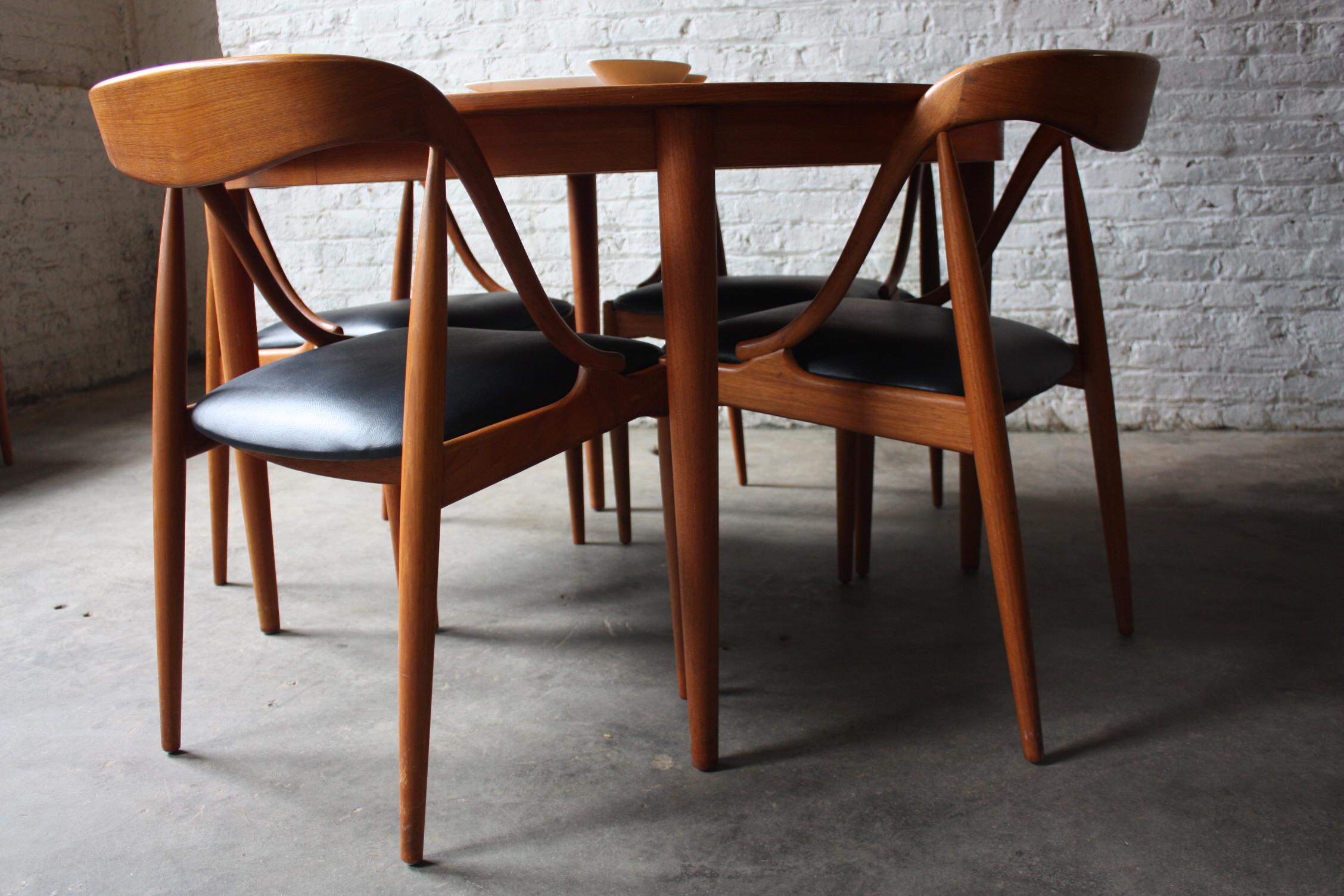 Terrific Breathtaking Johannes Andersen Danish Modern Teak Dining Creativecarmelina Interior Chair Design Creativecarmelinacom