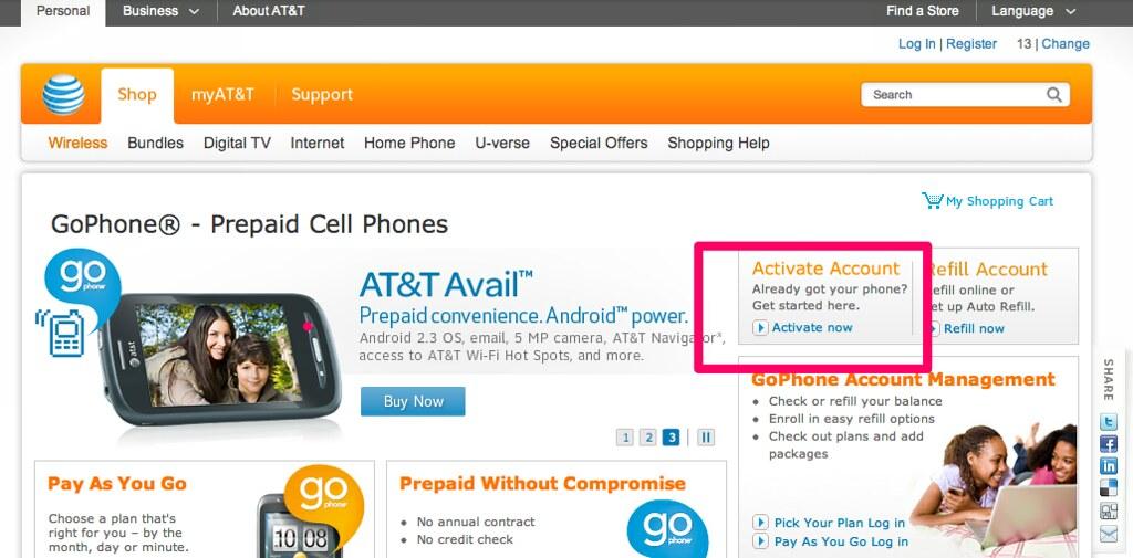 Att Activate Prepaid