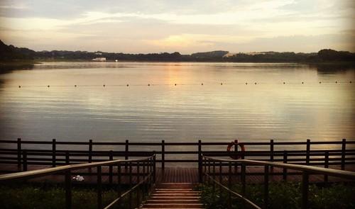Sunrise at Bedok Reservoir