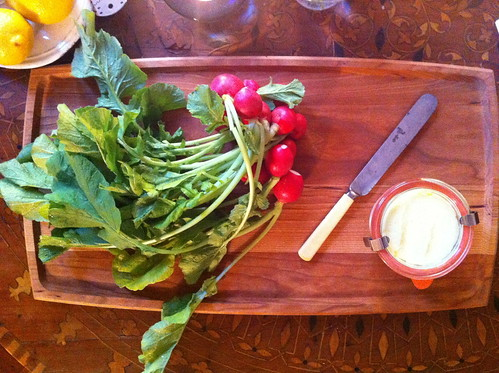 Radishes with homemade butter