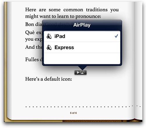 Default audio controls-airplay