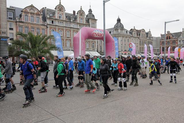 Eerste Roller & Bike parade van Leuven
