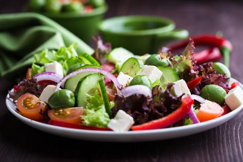 pretty greek salad