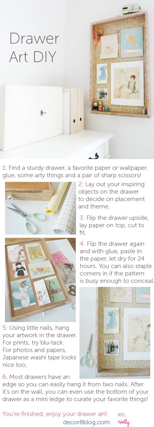 DIY Drawer Art on decor8