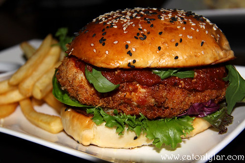 Fried Parmesan Chicken Sandwich, D Legends Bar