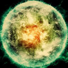 [フリー画像素材] グラフィック, CG, グラフィック - 宇宙, 太陽 ID:201207071600