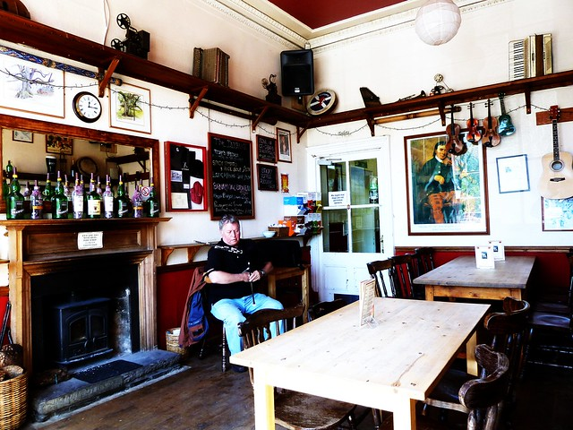 Piper at Taybank Pub, Dunkeld, Scotland