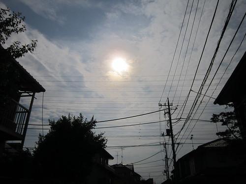 通りから見た金環日食 2012年5月21日7:33 by Poran111