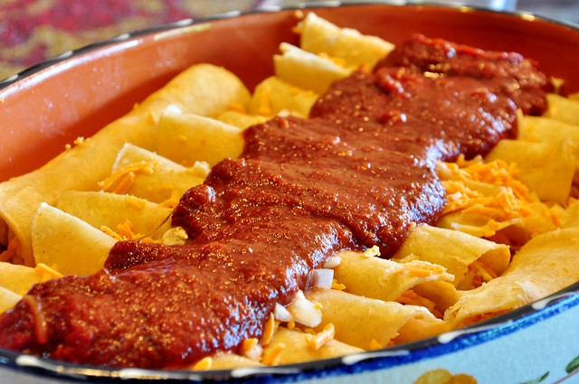 ... vegan eat anyway?: Red Chile Enchiladas with Mesquite-Smoked Tofu