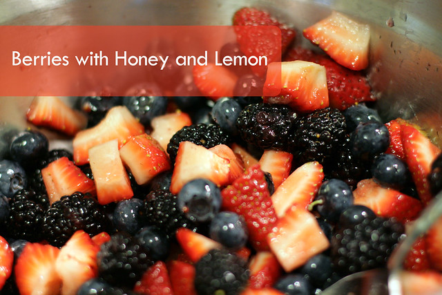 Berries with Honey and Lemon
