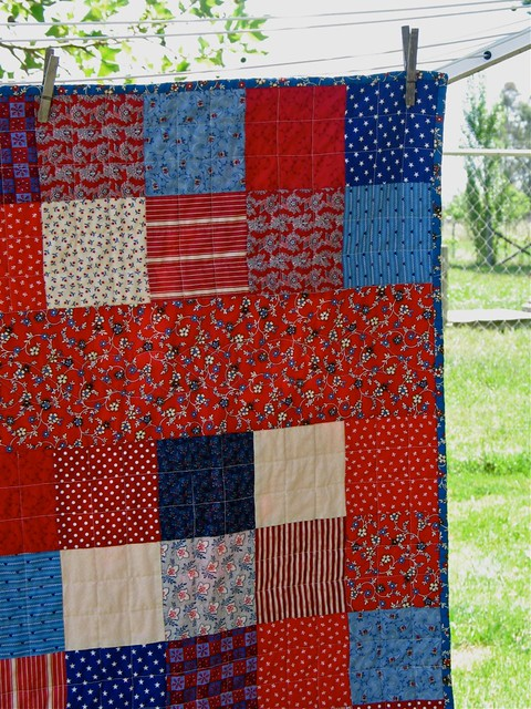 Detail corner of C's quilt