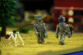LEGO Robots Walking a Dog