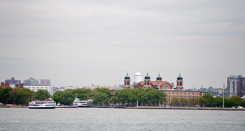 Ellis Island from Staten Island Ferry