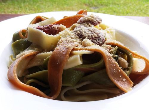 Italian Sausage & Sage Tri-colour Fettucine by mjd-s