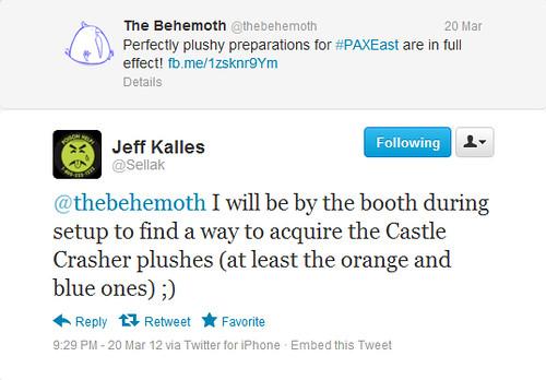 stuffed stuff: Castle Crashers tweets