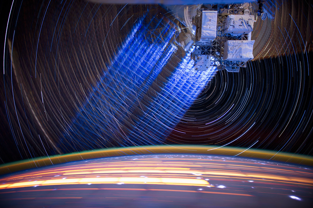 """[ISS] """"ISS star trails"""" 7257867240_9a86ce77be_b"""