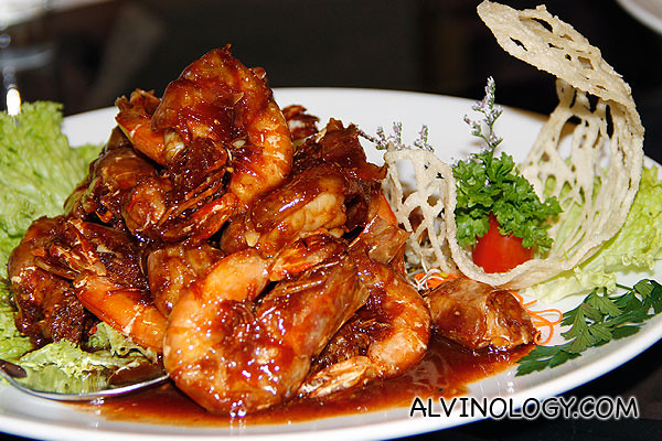 Sautéed White Prawn with Chef Special Sauce