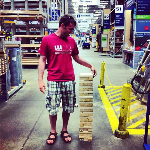 making a large Jenga game