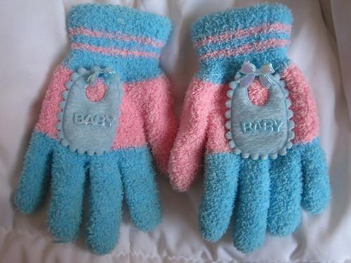 baby bib mittens