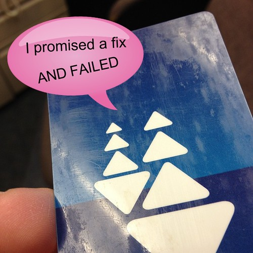 Clipper Card Fail