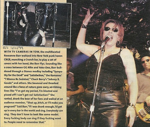 11-11-99 Rolling Stone Magazine (Roseanne Barr at CBGB)