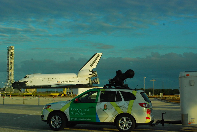 Google Streetview and Explorer shuttle model