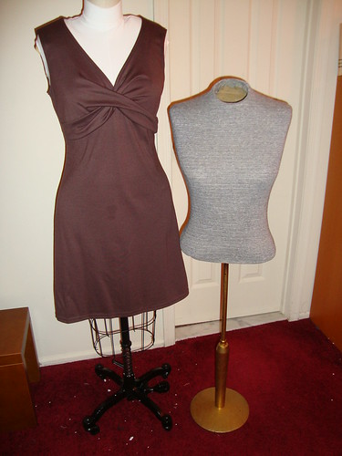 My yet-to-be-named dressform, and Emma my mannequin