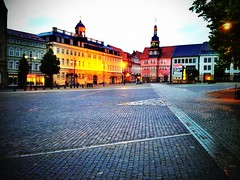 The marketplace of #Eisenach with town hall and city palace on this #evening.