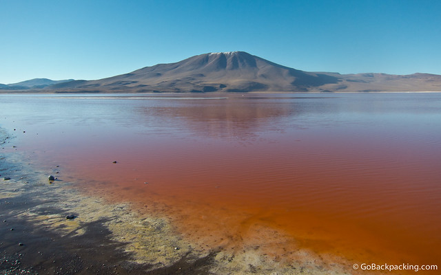 The blood-red Laguna Colorada
