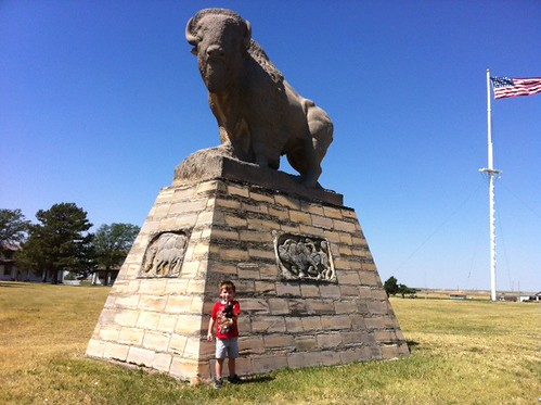 Chase and Buddy visit Old Fort Hays in Hays, Kansas.