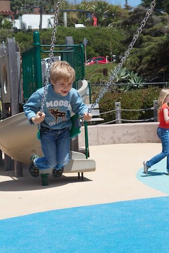 G'tums (6) swinging at Beach Playground