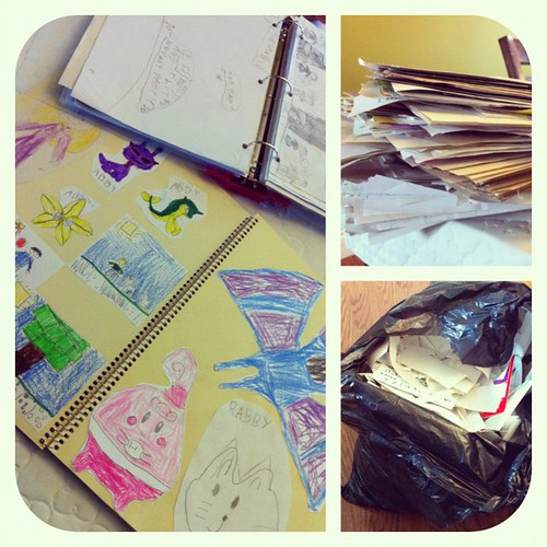 Spent the past two days organizing 5 yrs worth of the twins art work...