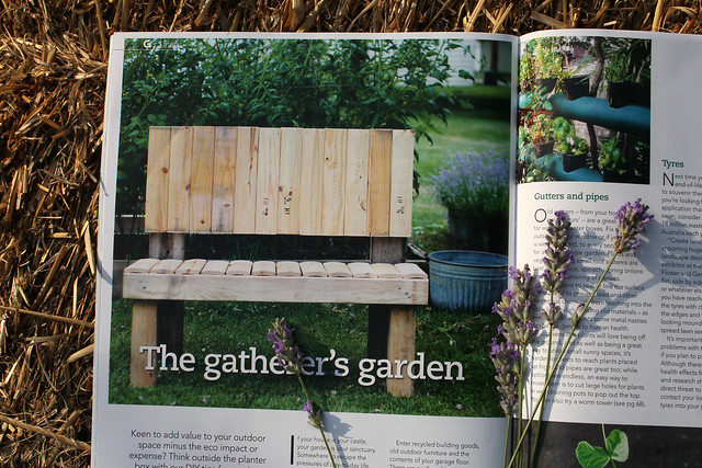 Upcycled Garden Bench in G Magazine
