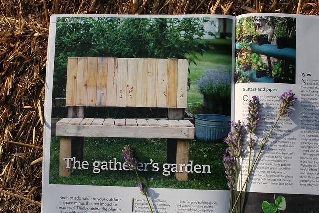 Upcycled Garden Bench in G Magazine