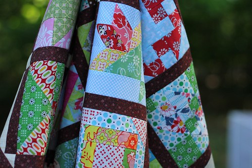 Farmer's Wife Quilt Top - hanging