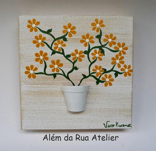 Tela decorativa floral