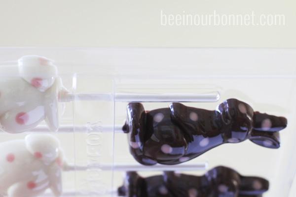 Polka Dot Chocolate Bunnies by beeinourbonnet.com