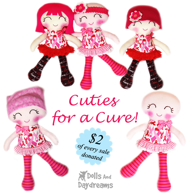 Cuties for a Cure Sewing Pattern Breast Cancer Doll