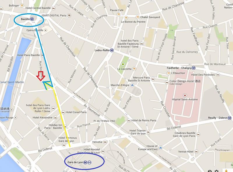 法國巴黎自助洗衣店MAP
