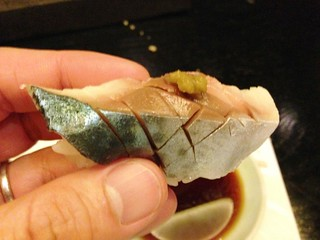 Mackerel Sushi with Yuzu-Kosho @Uokura, Sinan Road, Shanghai