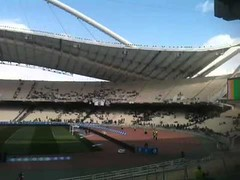 Around 20.000 more +PAOK FC / ΠΑΕ ΠΑΟΚ fans are gradually making it to the stadium after a 504 km trip...