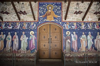 Meteora - Mural in Agios Stéphanos Monastery