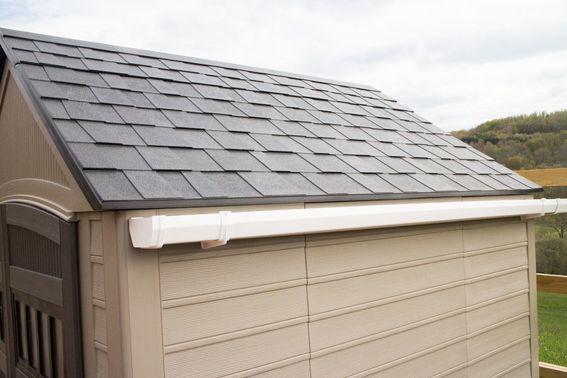 How to Build a Rainwater Catchment On a Shed Roof. It's easy to attach gutters onto your shed roof to collect water! Perfect solution for catching rainwater for your vegetable garden.