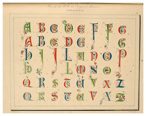 005-Alphabet-Album collection de soixante feuilles d'alphabets historiés 1843- Joseph-Balthazar Silvestre