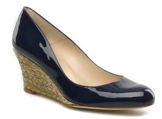 LK Bennett Zella navy wedge